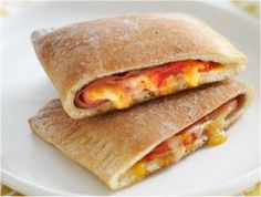Ham and Cheese Calzones Recipe