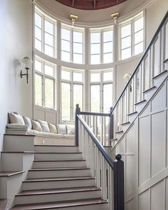 This has to be the most beautiful staircase I've ever seen ! I have a thing for staircases, I don't really even want a home with that many stairs (especially because we always have a basement) but I'd add a second story just to have this gorgeousness! [photo via @homebunch and Christies real estate] for more inspiration you can check out my stairway board on Pinterest