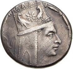 Tetradracma - argento - Antiochia di Siria (Turchia) (83-69 a.C.) - Tigranes II con tiara armena vs.dx. - Münzkabinett Berlin