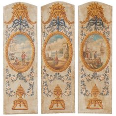 Three 19th Century French Panels