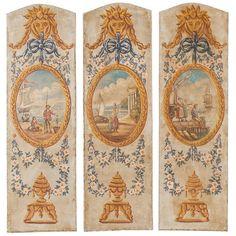 Three 19th Century French Panels