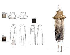 Fashion Sketchbook - technical fashion drawings; fashion illustration; fashion portfolio // Aile Hua