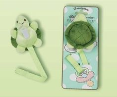 Amazon.com: Plush Turtle Pacifier Clip - Bearington: Baby