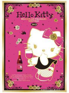 Hello Kitty Beaujolais Villeages Nouveau 2013 flier