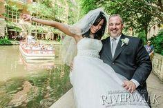 Just Married on the San Antonio Riverwalk www.MarriageIsland.com  (210) 667-6503