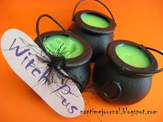 Edible Witch Pus Treats -- Why do I KNOW Parker would love these??