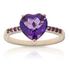 Amethyst Heart Ring 14K rose gold $299 #Holiday #Gift #Idea
