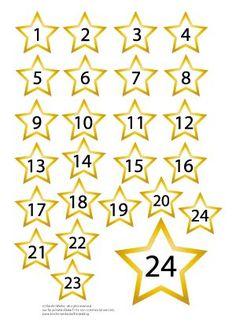 FREE printable number for your DIY advent calendar / Adventskalender Zahlen zum Ausdrucken
