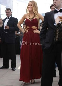 Chic Ankle-length Cut Out Chiffon Wmens Formal Evening Dress. See More Gossip Girl Fashion Dresses at http://www.ourgreatshop.com/Gossip-Girl-Fashion-Dresses-C904.aspx