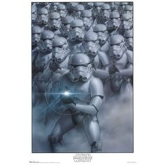 Star Wars - Stormtroopers by unknown. Size 22.00 X 34.00 Art Poster Print @ niftywarehouse.com #NiftyWarehouse #Geek #Products #StarWars #Movies #Film
