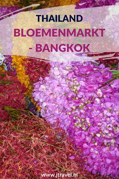 Een interessante plek in Bangkok is de Bloemenmarkt met orchideeën, lotusbloemen en andere schitterende bloemen. Aan de overkant van de straat is gigantische groentemarkt. Meer lezen? Kijk dan op mijn website. #bloemenmarkt #bangkok #thailand #jtravel #jtravelblog