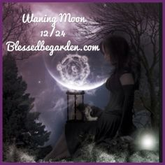 Today's moon is waning, this is the time to banish negativity from your life or remove obstacles.