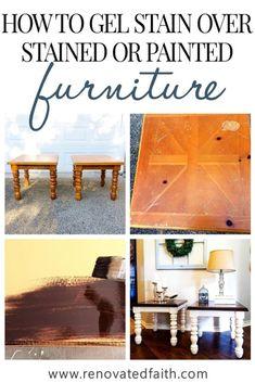 Gel Stain Furniture, Laminate Furniture, Furniture Makeover, Wood Furniture, Furniture Refinishing, Refurbished Furniture, Upcycled Furniture, Furniture Ideas, Bedroom Furniture