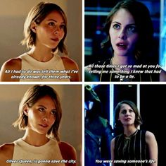 #Arrow 3x13 // 4x04 - Thea being supportive of her brother.