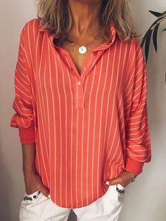 943c648b73040 White Solid Casual Shirts  amp  Blouses - JustFashionNow.com Types Of  Sleeves