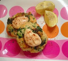 Salmon Patties with Garlic Mayonnaise and Moroccan Spices @ http://allrecipes.com.au