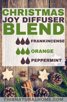 Christmas Essential Oil Diffuser Blends - This Natural Home You can have the smells of Christmas in your home every day for the whole season with these amazing Christmas essential oil diffuser blends. Essential Oils Christmas, Essential Oil Diffuser Blends, Essential Oil Uses, Doterra Essential Oils, Yl Oils, Frankincense Essential Oil, Orange Essential Oil, Diffuser Recipes, Aromatherapy Oils