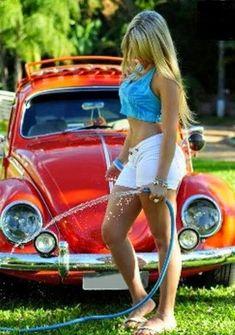 Vw Volkswagen, Vw T1, Vw Coccinelle Cabriolet, Van Vw, Kdf Wagen, Bus Girl, Vw Vintage, Vans Girls, Vw Cars