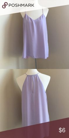 Tank top Lavender tank with small key hole in back Express Tops Tank Tops
