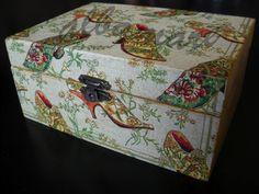 Decoupage con servilleta - Decoupage with a napkin