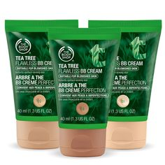 For blemish prone skin from The Body Shop Introduces Tea Tree Flawless BB Cream! The Body Shop, Body Shop Tea Tree, Bb Cream For Acne, Organic Tea Tree Oil, Cream Tea, Acne Spots, Lighten Skin, How To Get Rid Of Acne, Oils For Skin