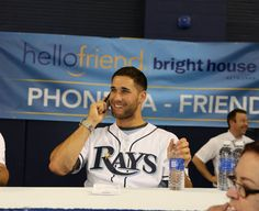 Kevin Keirmier calling up a fan at the Bright House Phone-a-friend booth at Fan Fest 2015