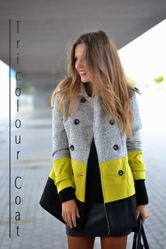 Trilogy Coat - Pre Order from Urban Wolfpack >Pop of Colour<