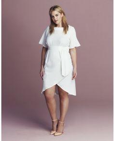 Plus Size Tie Wrap Dress