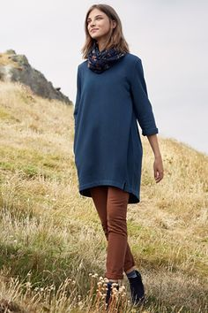 Stone Carving Tunic, A Throw-on Soft Cotton Longline Sweatshirt by Seasalt Cornwall New Outfits, Fashion Outfits, Clothes For Sale, Clothes For Women, Stylish Dresses, Plus Size Outfits, New Dress, Stone Carving, Tunic Tops