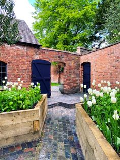 Porches, Renovation Facade, 19th Century London, Mid Century, Raised Planter, Cottage, Layout, White Tulips, Formal Gardens