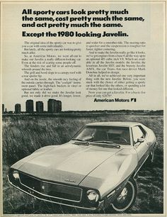 1971 Car Ad, American Motors Javelin by classic_film on Flickr.