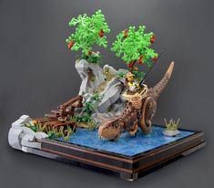 Jme Wheeler provides a glimpse into a world where you can go fishing with a Carnosaurus, trek through the desert on a T-Rex, and break through enemy lines with a Stygimoloch. Lego Minecraft, Lego Moc, Minifigura Lego, Lego Army, Minecraft Buildings, Dino Lego, Lego Batman, Batman Logo, Lego Bionicle