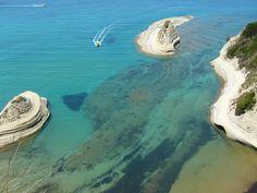 Cape Drastis in Corfu Island, Greece Corfu Island, Aurora Borealis, Geology, Greece, Solar, Landscape, Park, Oceans, Amazing