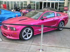 pink GT shelby mustang