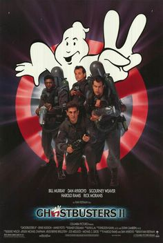 GHOSTBUSTERS Directed by Ivan Reitman. With Bill Murray, Dan Aykroyd, Sigourney Weaver, Harold Ramis. The discovery of a massive river of ectoplasm and a resurgence of spectral activity allows the staff of Ghostbusters to revive the business. 80s Movies, 2 Movie, Love Movie, Great Movies, Movie Sequels, Awesome Movies, Indie Movies, Movie List, Action Movies