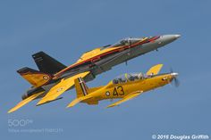 BCATP Commemoration Flight: CF-188 Hornet and CT-156 Harvard II by douggriffithaviation