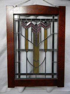 Craftsman Stained Glass Window by charlesartglass on Etsy, $350.00