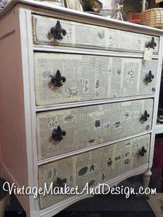 "Cottage Chic ""Fleur de Lis"" Dresser   Vintage Market & Design"