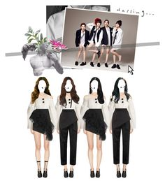 """{ UKIYO } Wonderland - Debut Stage @ Music Bank"" by vxxo ❤ liked on Polyvore featuring STELLA McCARTNEY, E L L E R Y, J.W. Anderson, Leg Avenue, Jeffrey Campbell, Ann Demeulemeester, Yves Saint Laurent, Oscar de la Renta, Pier 1 Imports and Pointer"