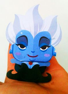 """Ursula The Sea Witch"" Paper Toy"