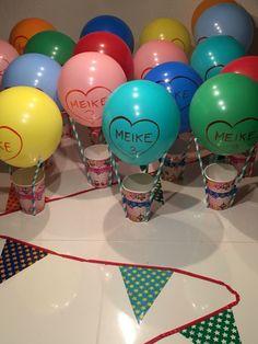 Luchtballon met popcorn traktatie van Meike Special Birthday, Birthday Bash, Birthday Party Themes, Balloon Decorations, Birthday Decorations, Circus Party, Spa Party, Kids And Parenting, Diy For Kids