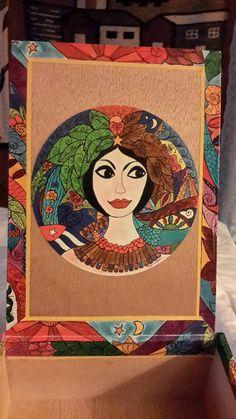 Cigar Box Ladies Art Wooden Chest Several In by IndustrialPlanet
