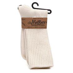 (EDL) Maggie's Organics Cotton Crew Socks, Natural  http://www.drugstore.com/maggies-organics-cotton-crew-socks-natural/qxp330928?catid=180609