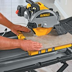 Rubi DT Wet Tile Saw V Tile Saw With Diamond Cutting - Dewalt wet saw pump