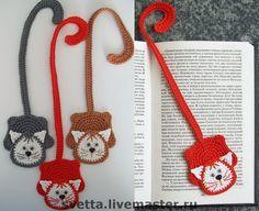 Bookmark cat and mouse crochet pattern by Zabelina Amigurumi LittleOwlsHut Crochet Bookmark Pattern, Crochet Bookmarks, Crochet Cross, Crochet Home, Crochet Gifts, Crochet Baby, Knit Crochet, Knitting Patterns, Crochet Patterns