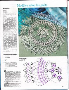 Trendy Crochet Mandala Diagram English Ideas You are in the right place about Crochet fashion Here we offer you the most beautiful pictures about the. Crochet Doily Diagram, Crochet Doily Patterns, Thread Crochet, Filet Crochet, Irish Crochet, Crochet Motif, Crochet Stitches, Tatting Patterns, Doilies Crafts