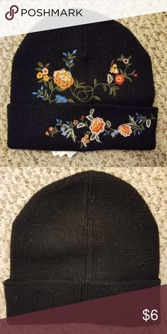 cfaf8d02bd9 Floral Embroidered Beanie Floral Embroidered Beanie Forever 21 Other