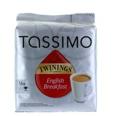 Tassimo Twinings English Breakfast Tea Pods 16 Serving 40g