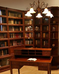 barrister bookcases in a home library