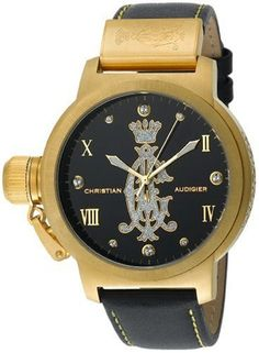 Christian Audigier Unisex Eternity Pure Ion-Plating Gold Watch - Jewelry For Her Latest Watches, Christian Audigier, Jewelry For Her, Wood Watch, Plating, Pure Products, Unisex, Gold, Accessories